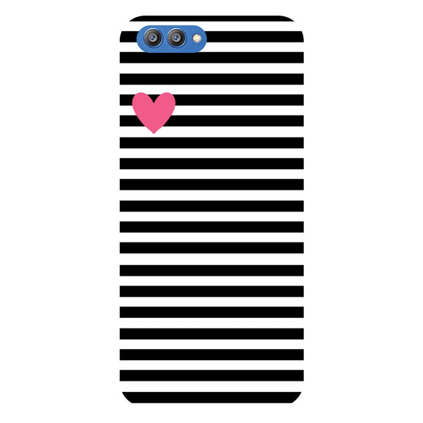 Stripes of heart - Printed Hard Back Case Cover for Honor V10-Hamee India