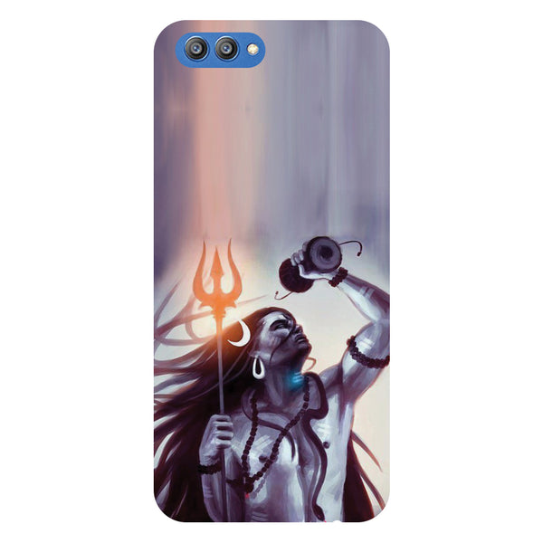 Shiv Dumru - Printed Hard Back Case Cover for Honor V10-Hamee India