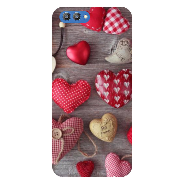 Hearts & Love - Printed Hard Back Case Cover for Honor V10-Hamee India