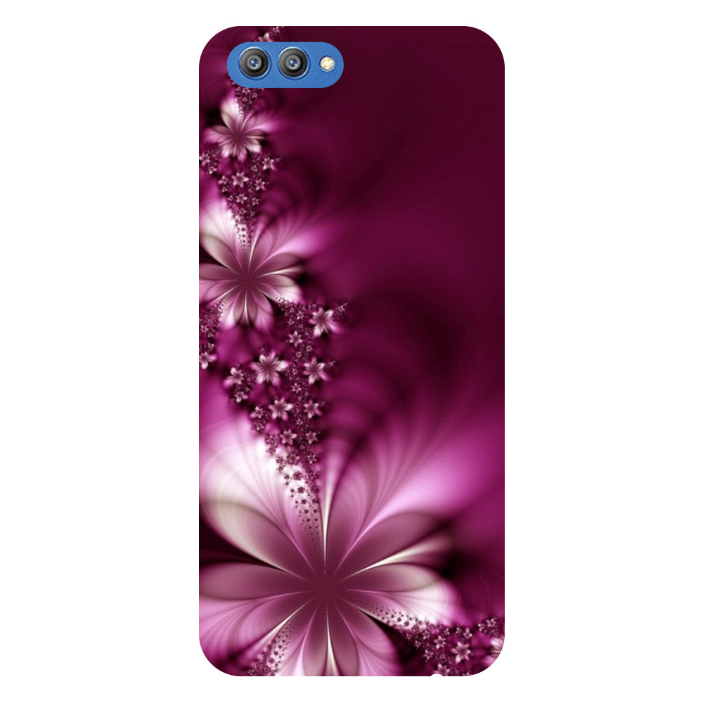 Purple Flower - Printed Hard Back Case Cover for Honor V10-Hamee India