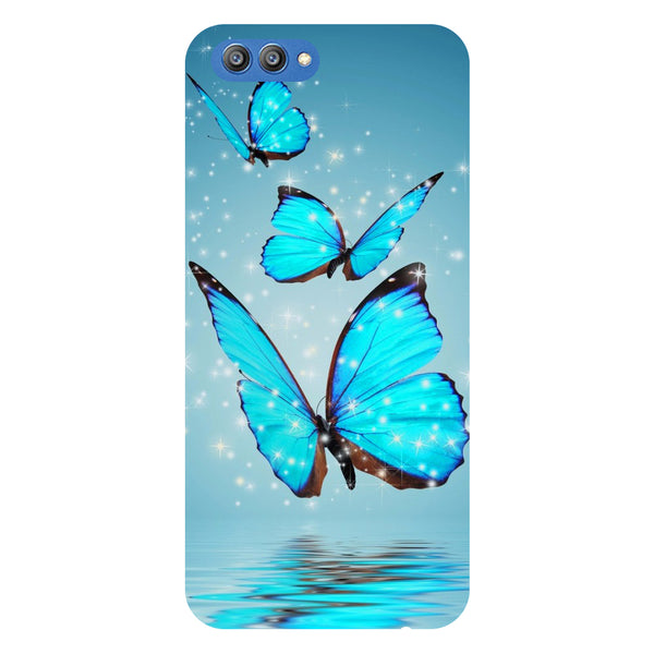 Blue Butterfly 2 - Printed Hard Back Case Cover for Honor V10-Hamee India