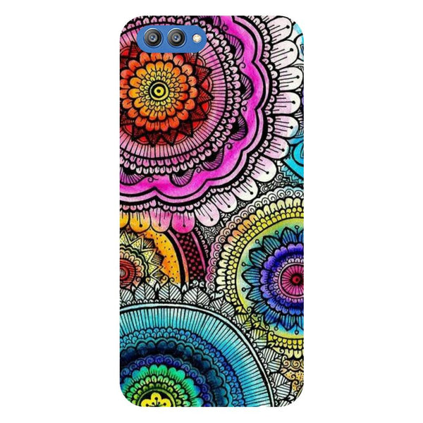 Beautiful Mandala - Printed Hard Back Case Cover for Honor V10-Hamee India