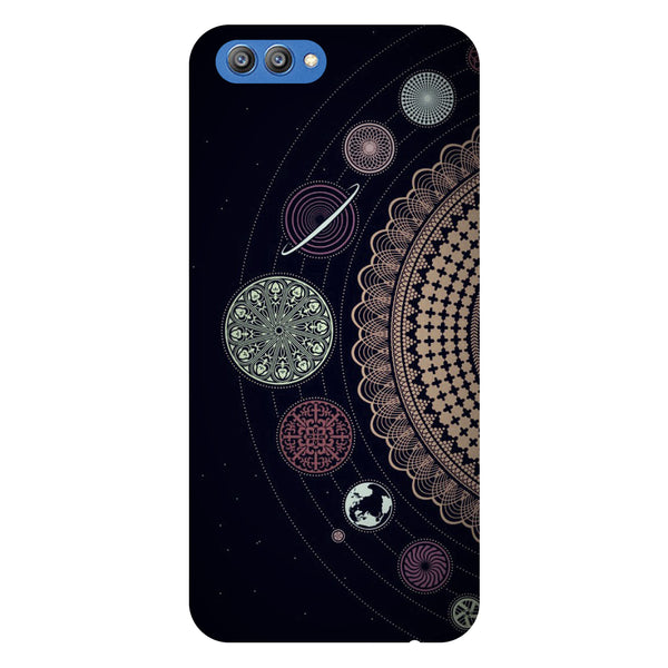 Mandala Planets - Printed Hard Back Case Cover for Honor V10-Hamee India
