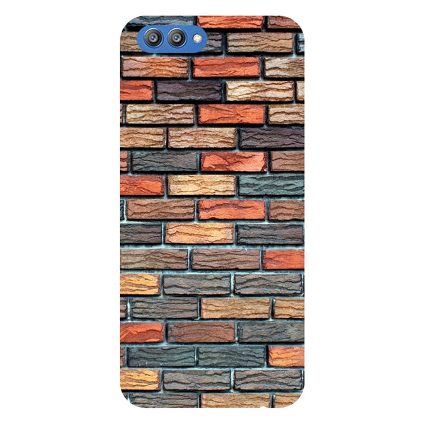 Bricks - Printed Hard Back Case Cover for Honor V10-Hamee India