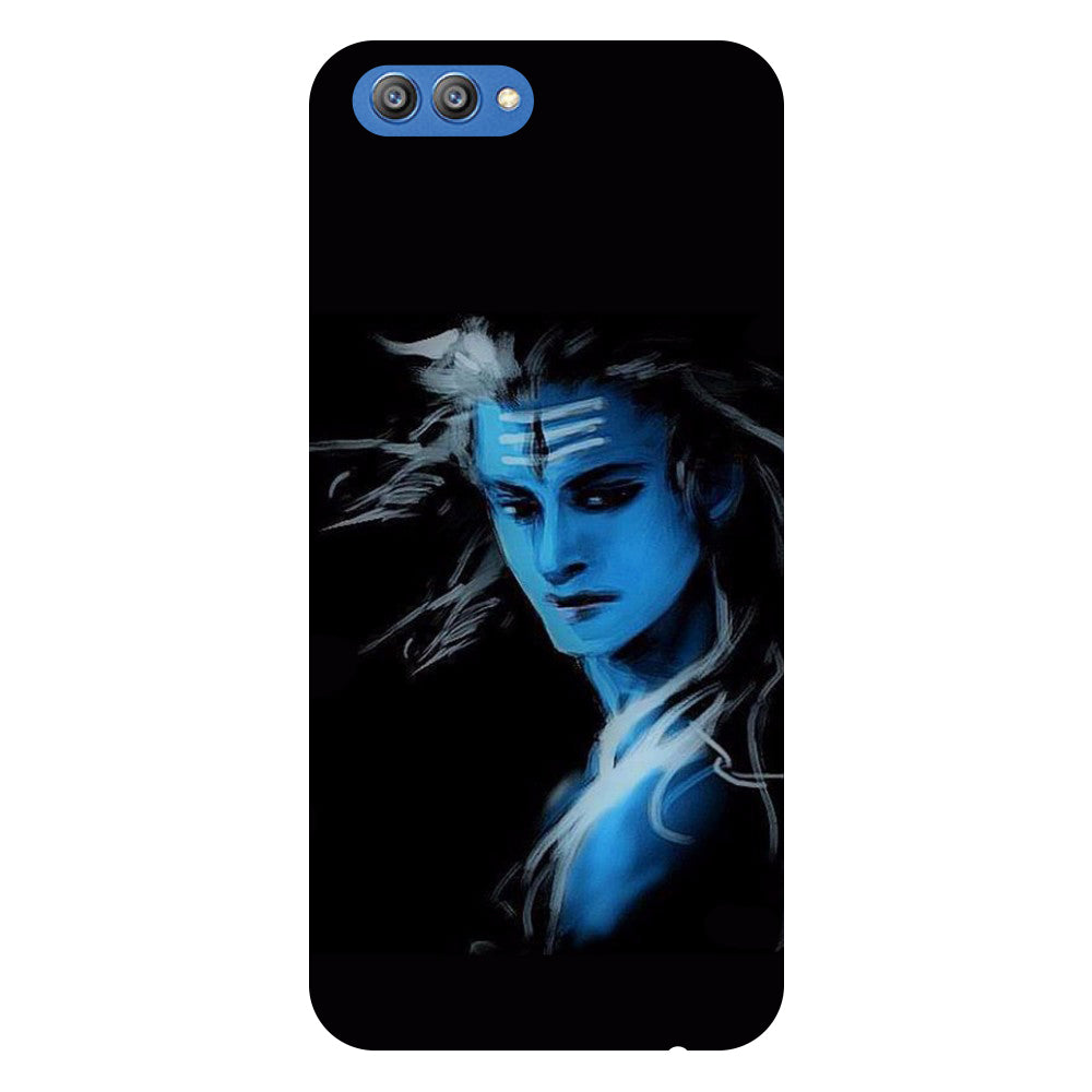 Blue Mahadev 2- Printed Hard Back Case Cover for Honor V10-Hamee India