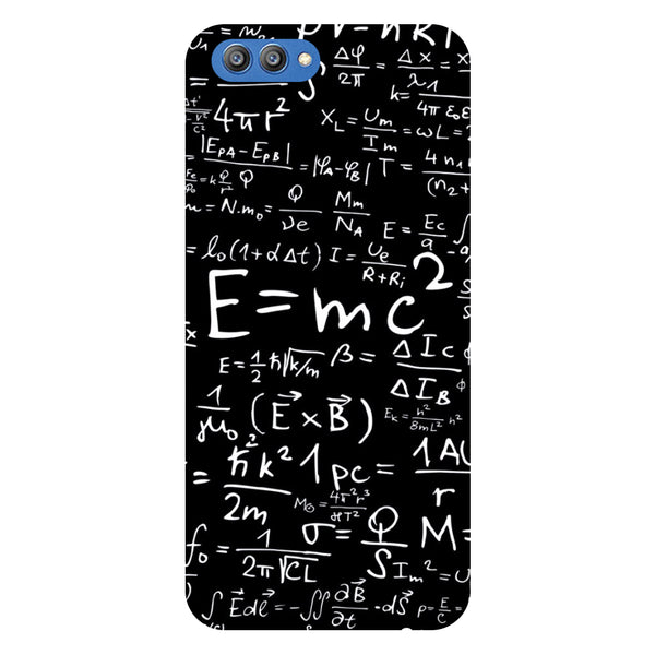 E=MC2 - Printed Hard Back Case Cover for Honor V10-Hamee India