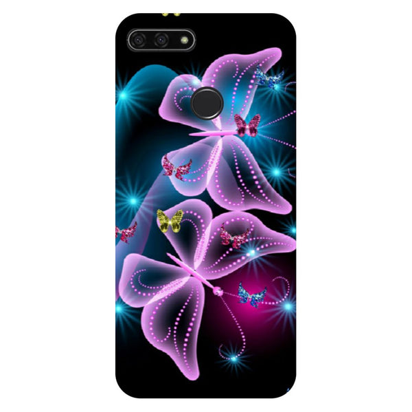 Gradient Butterfly Honor 7C Back Cover-Hamee India