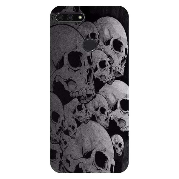 Skulls- Printed Hard Back Case Cover for Honor 7C