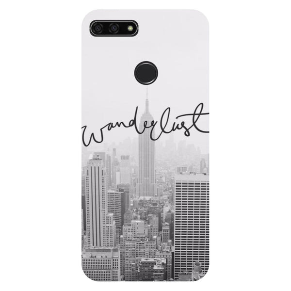 Wanderlust- Printed Hard Back Case Cover for Honor 7C