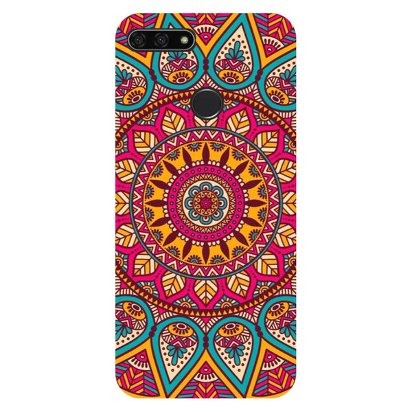 Mandala- Printed Hard Back Case Cover for Honor 7C
