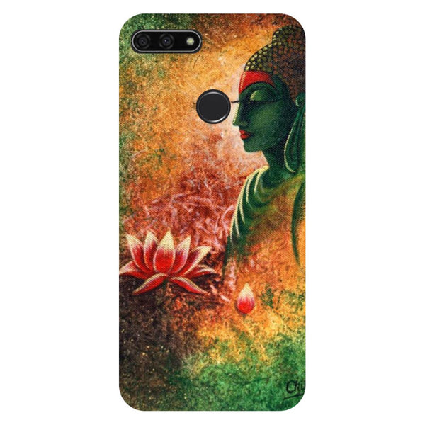 Buddha Side Pose Honor 7C Back Cover-Hamee India