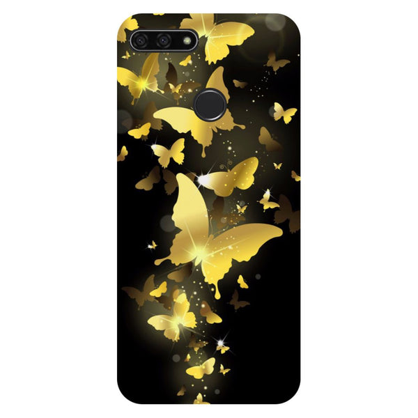 Golden Butterflies Honor 7C Back Cover-Hamee India