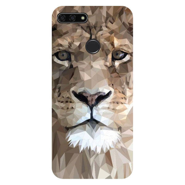 Lion abstract- Printed Hard Back Case Cover for Honor 7C