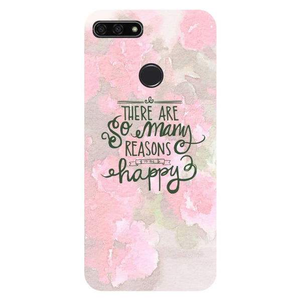 Be Happy Honor 7C Back Cover-Hamee India