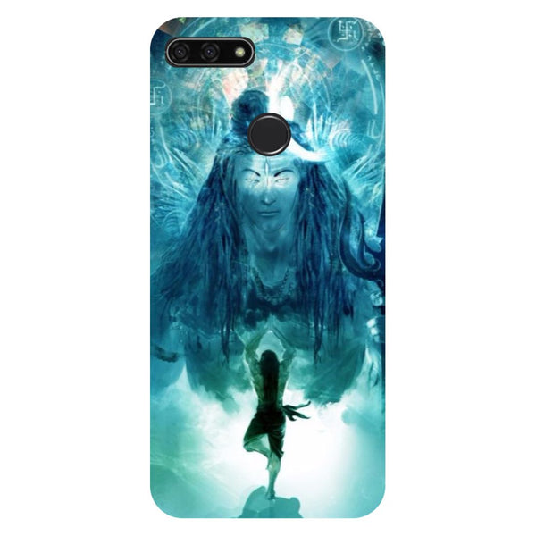 Standing shiv ji- Printed Hard Back Case Cover for Honor 7C