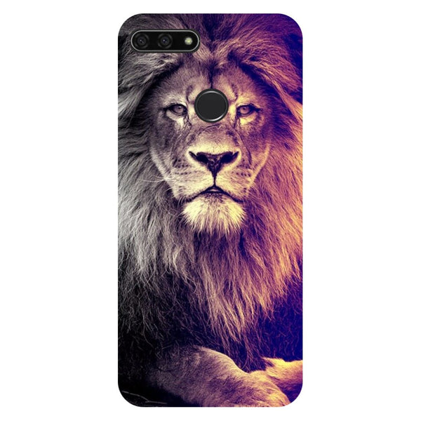 Lion- Printed Hard Back Case Cover for Honor 7C