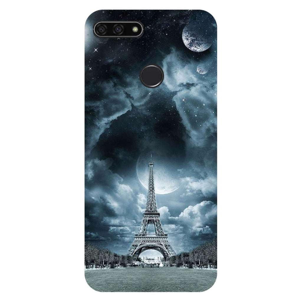 Blue Eiffel Honor 7C Back Cover-Hamee India