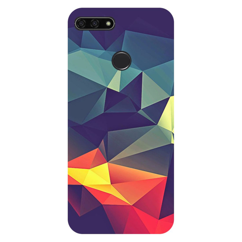 Abstract Honor 7C Back Cover-Hamee India
