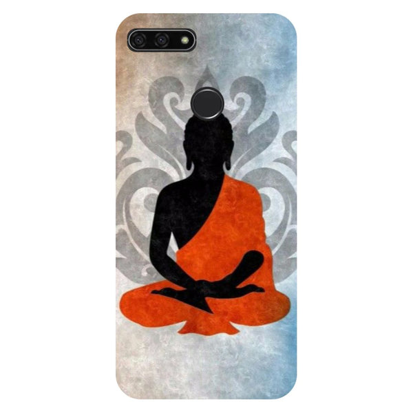 Yoga- Printed Hard Back Case Cover for Honor 7C