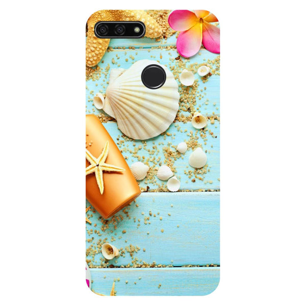 Shells- Printed Hard Back Case Cover for Honor 7C