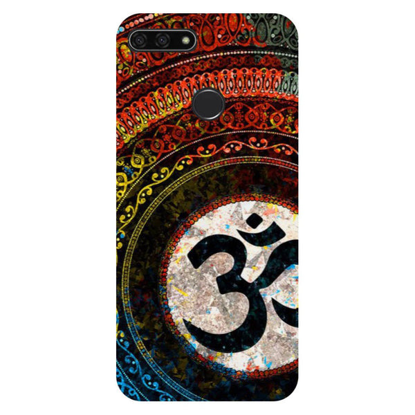Om- Printed Hard Back Case Cover for Honor 7C