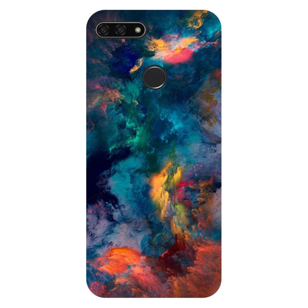Abstract Fumes Honor 7C Back Cover-Hamee India