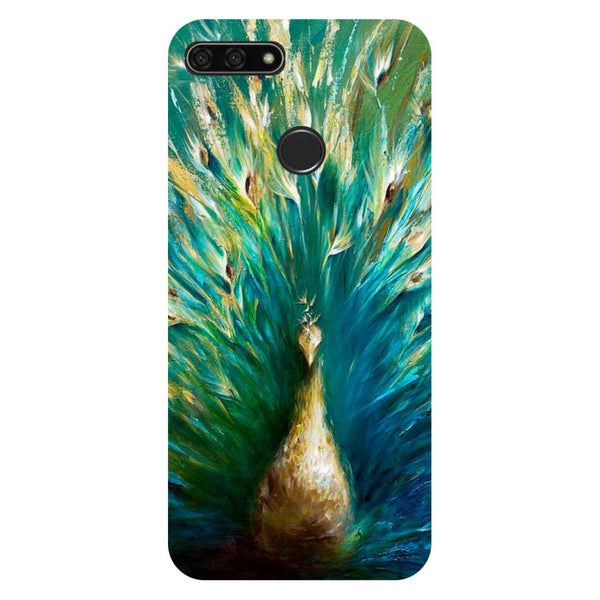 Peacock Painting Honor 7C Back Cover-Hamee India
