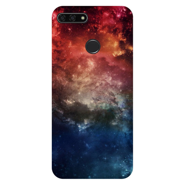 Space- Printed Hard Back Case Cover for Honor 7C