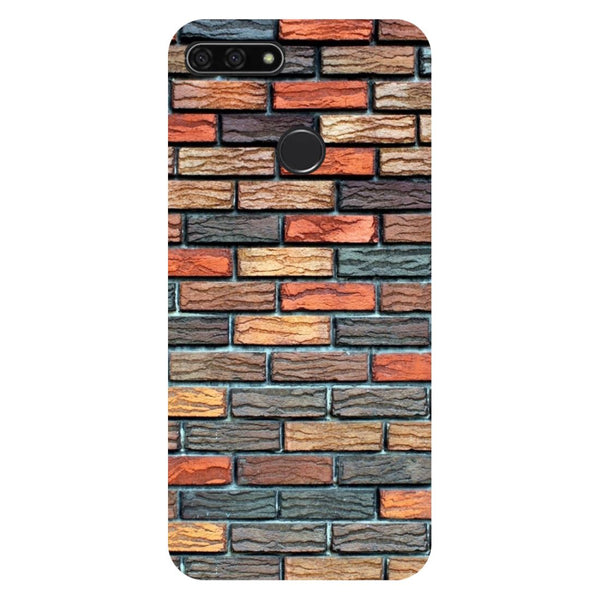 Brick Wall Honor 7C Back Cover-Hamee India