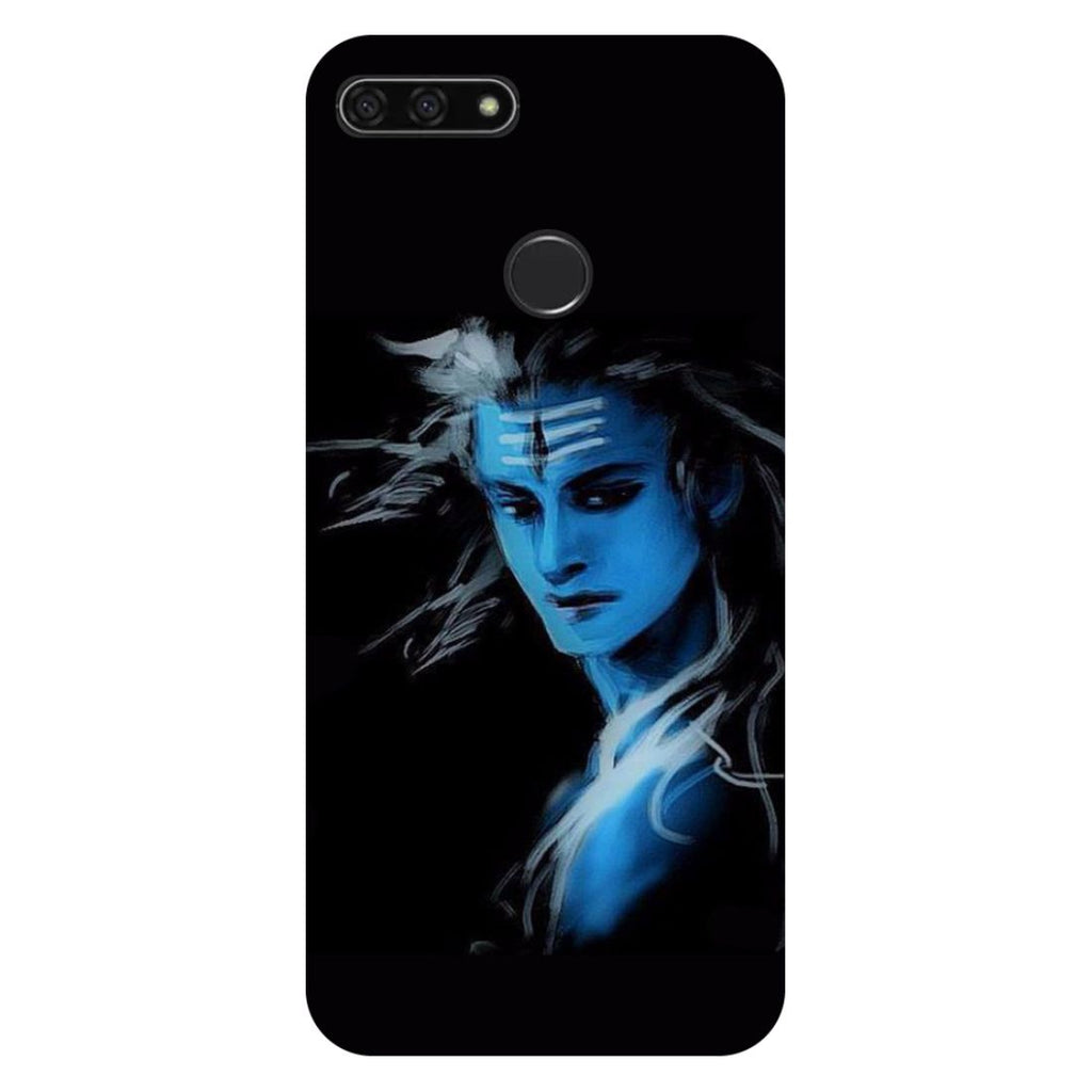 Blue black Shiva- Printed Hard Back Case Cover for Honor 7C