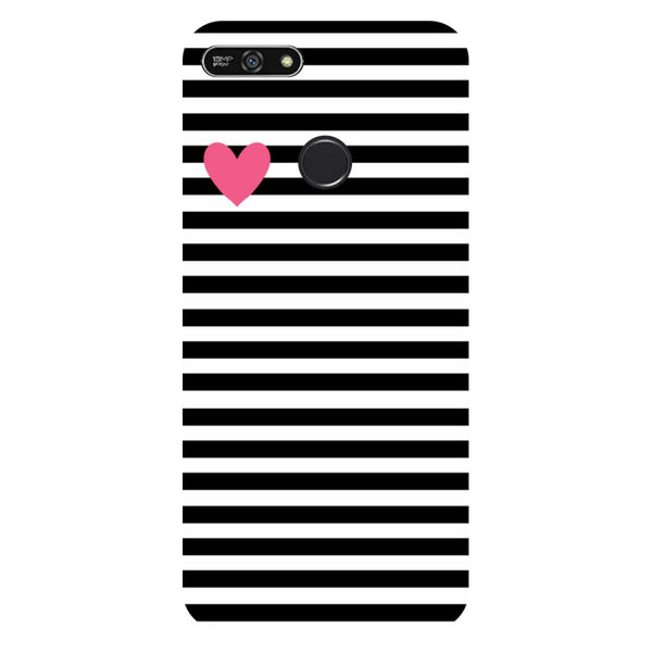 Stripes heart- Printed Hard Back Case Cover for Honor 7A