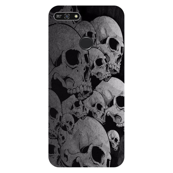 Skulls- Printed Hard Back Case Cover for Honor 7A