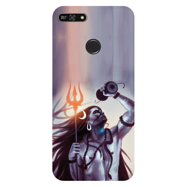 Purple shivji- Printed Hard Back Case Cover for Honor 7A