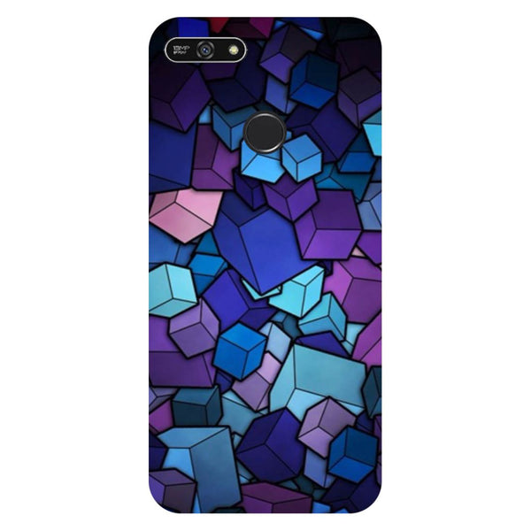 Cubes- Printed Hard Back Case Cover for Honor 7A