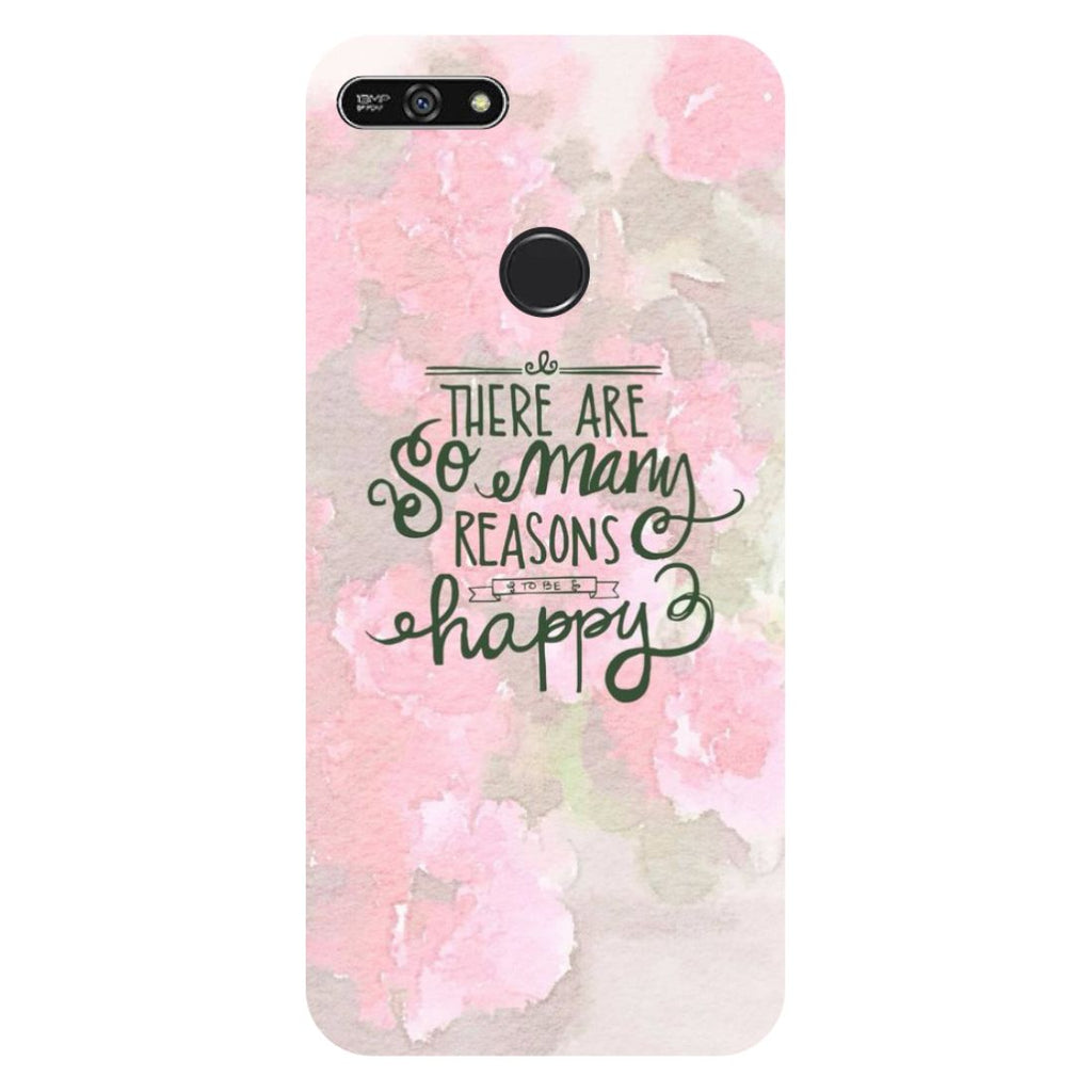 Be Happy- Printed Hard Back Case Cover for Honor 7A