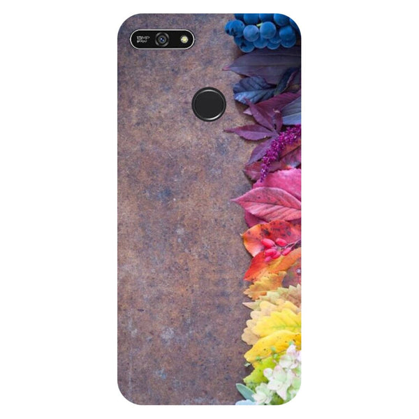 Side flowers- Printed Hard Back Case Cover for Honor 7A