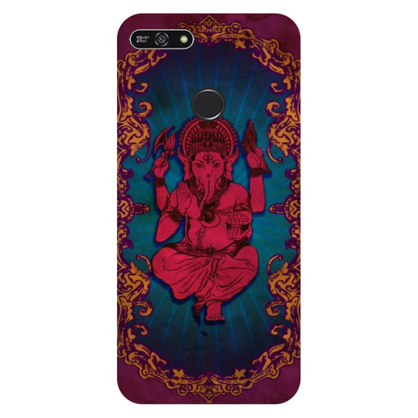 Red Ganesha- Printed Hard Back Case Cover for Honor 7A