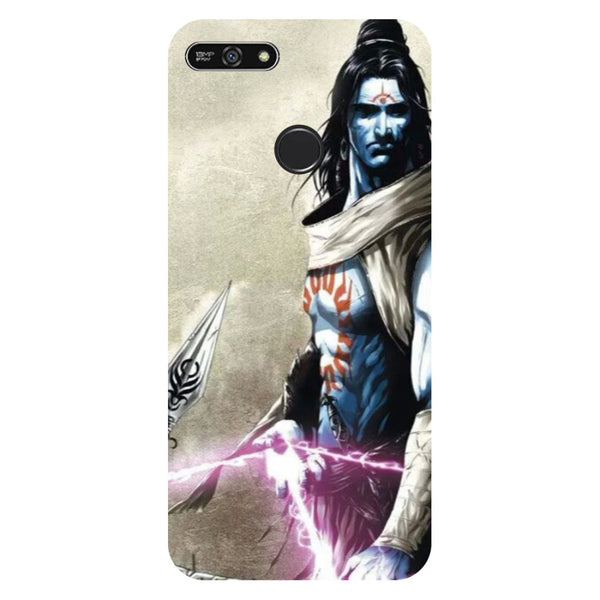 Shiva Side- Printed Hard Back Case Cover for Honor 7A