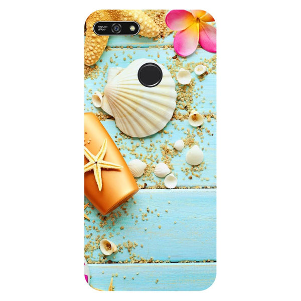 Shells- Printed Hard Back Case Cover for Honor 7A