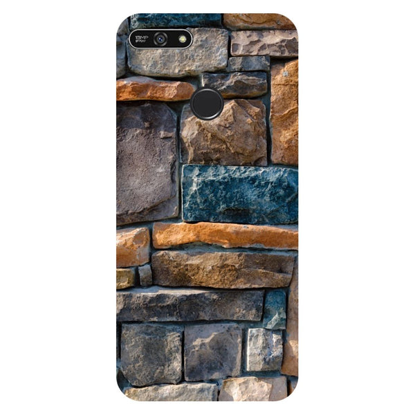 Stone Wall- Printed Hard Back Case Cover for Honor 7A