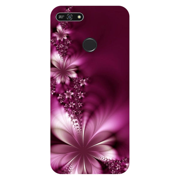 Purple flowers- Printed Hard Back Case Cover for Honor 7A