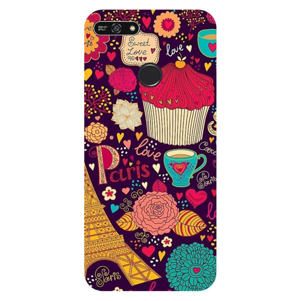 Cupcake- Printed Hard Back Case Cover for Honor 7A