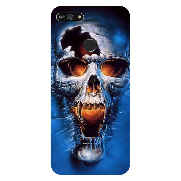 Skull blue- Printed Hard Back Case Cover for Honor 7A