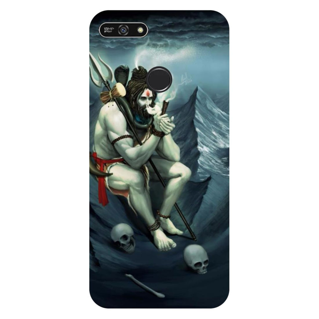 Aghori- Printed Hard Back Case Cover for Honor 7A