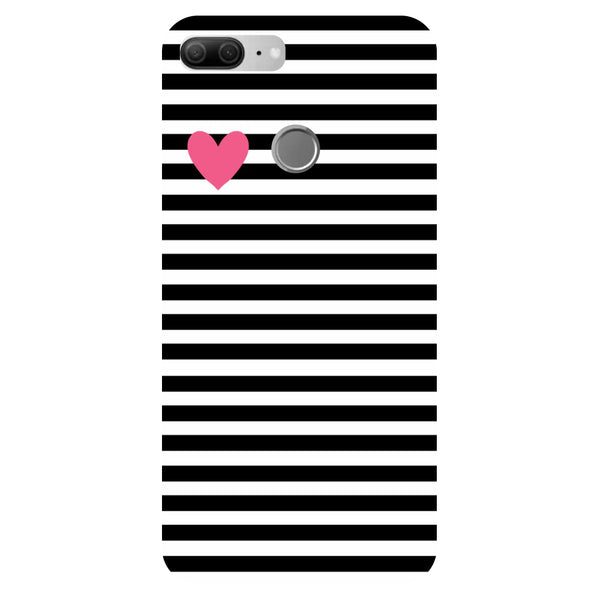 Stripes of heart - Printed Hard Back Case Cover for Honor 9 Lite