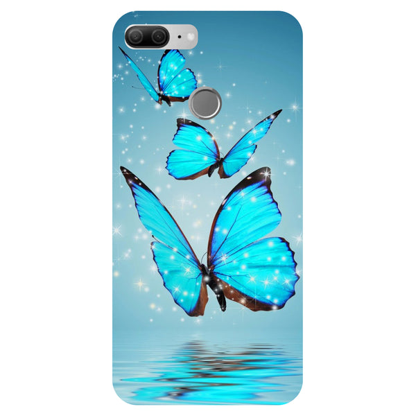 Blue Butterfly 2 - Printed Hard Back Case Cover for Honor 9 Lite