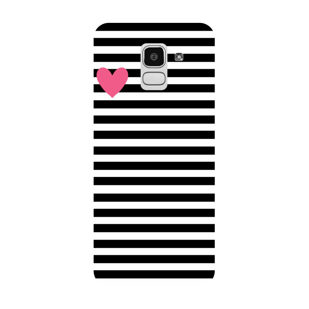 hot sale online 4fe76 04d85 Stripes Heart Samsung Galaxy J8 Back Cover