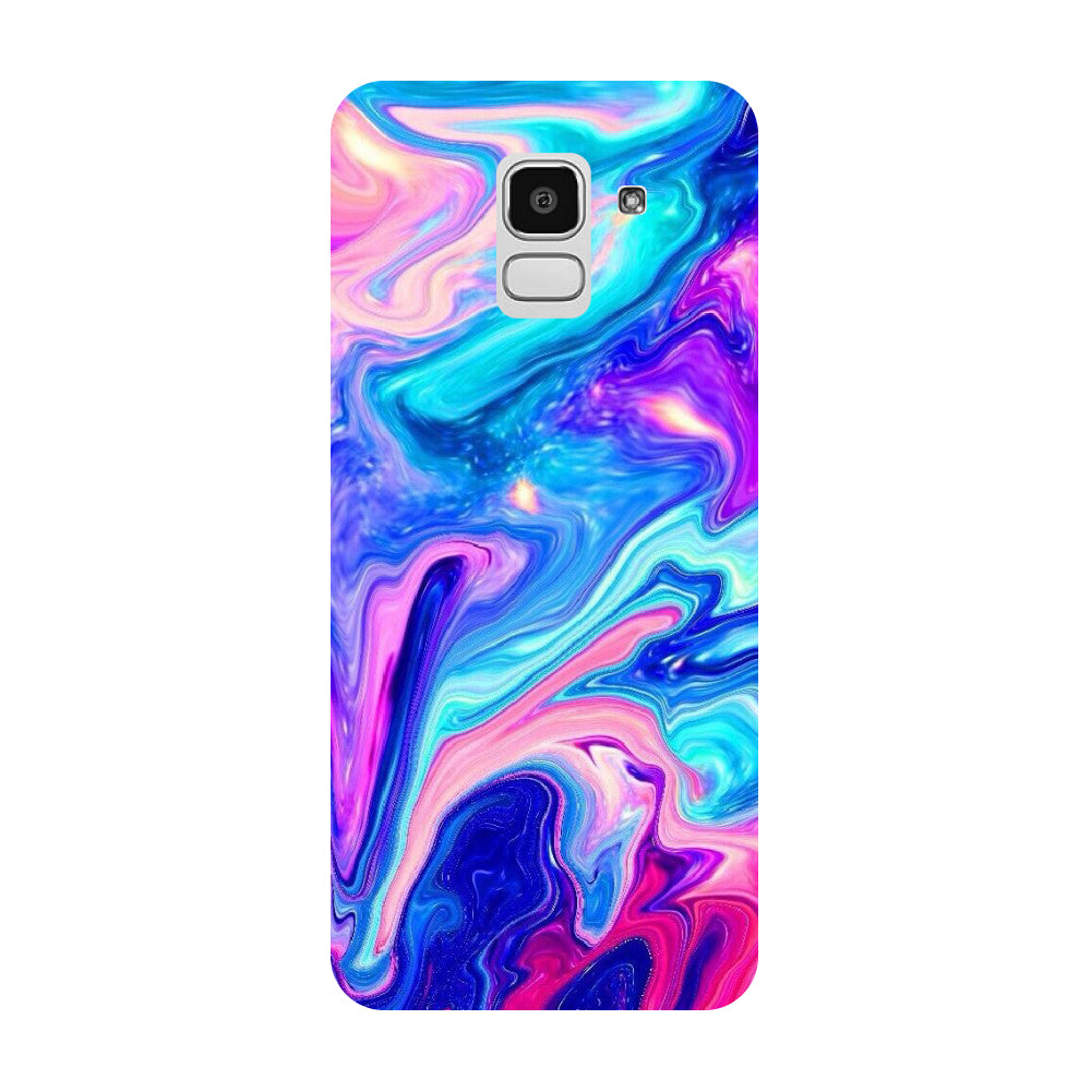 Abstract Paint Samsung Galaxy J8 Back Cover-Hamee India