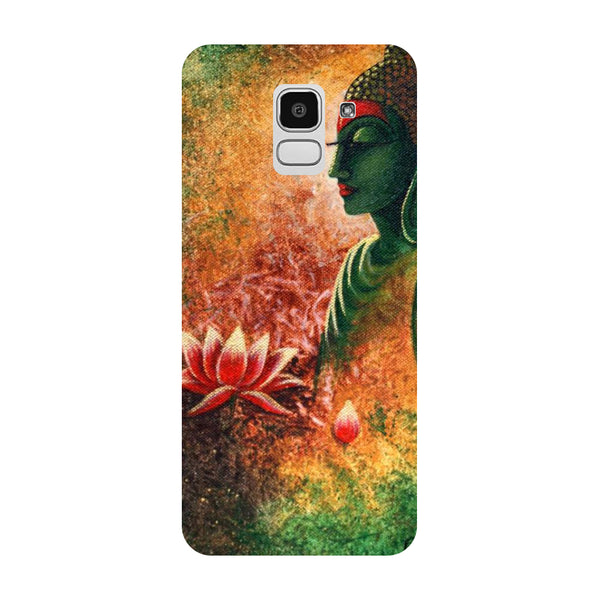 Buddha Side Pose Samsung Galaxy J8 Back Cover-Hamee India