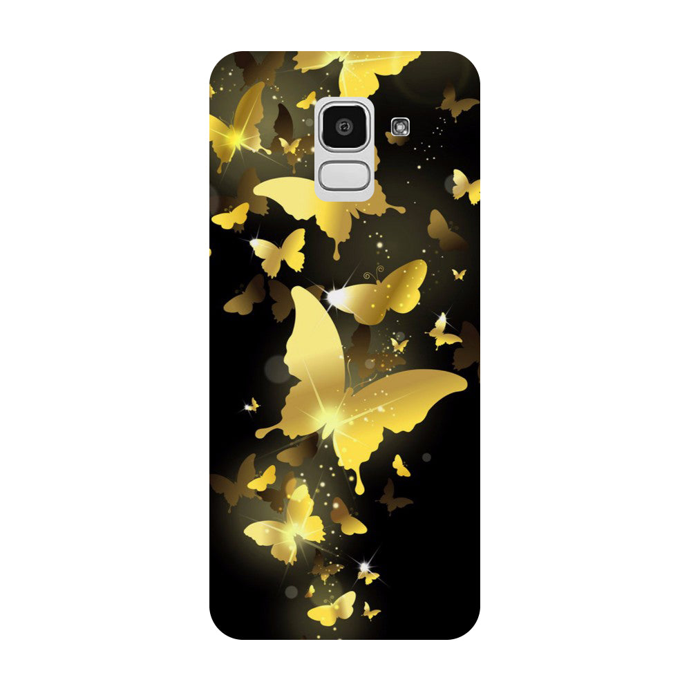Golden Butterflies Samsung Galaxy J8 Back Cover-Hamee India